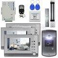DIYSECUR 7 дюймов Видео-Телефон Двери Дверной Звонок Интерком RFID Считыватель Металл Ночного Видения Камеры Магнитный Замок Система Дистанционного Управления