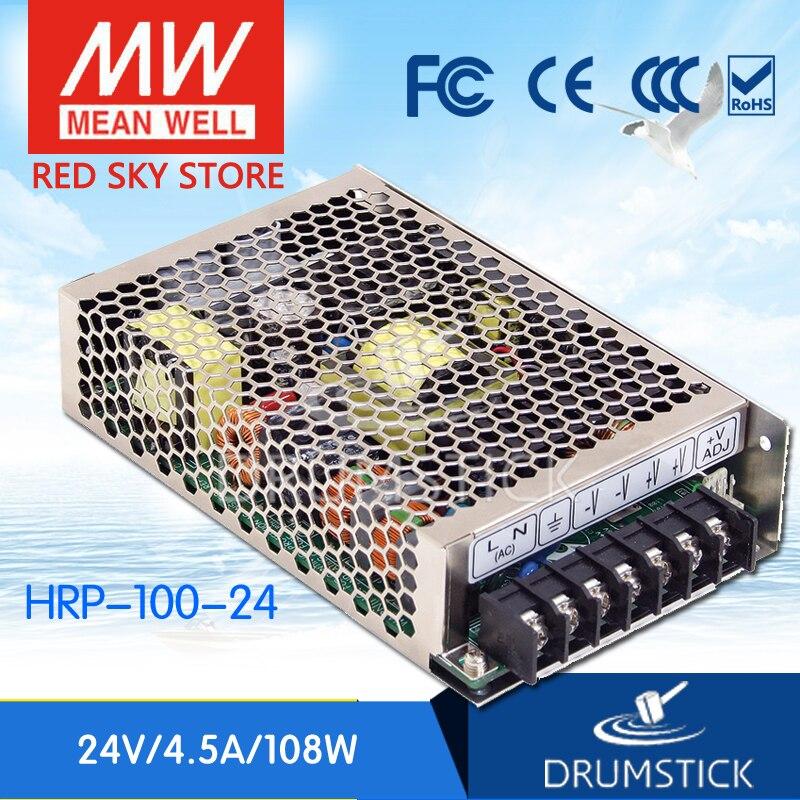 Moyenne bien HRP-100-24 24V 4.5A meanwell HRP-100 24V 108W sortie unique avec fonction PFC alimentation [Real1]