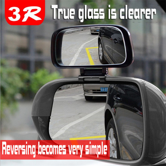 Square Wide Angle Side Rear view Mirror  Car rearview blind spot mirror Real glass Suitable for all kinds of rearview mirrors 2
