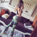 2017 Hot Women Army Green Print Leggings Mid Waist Pants Clothes Rubber Pant Spandex Stretched Leggings