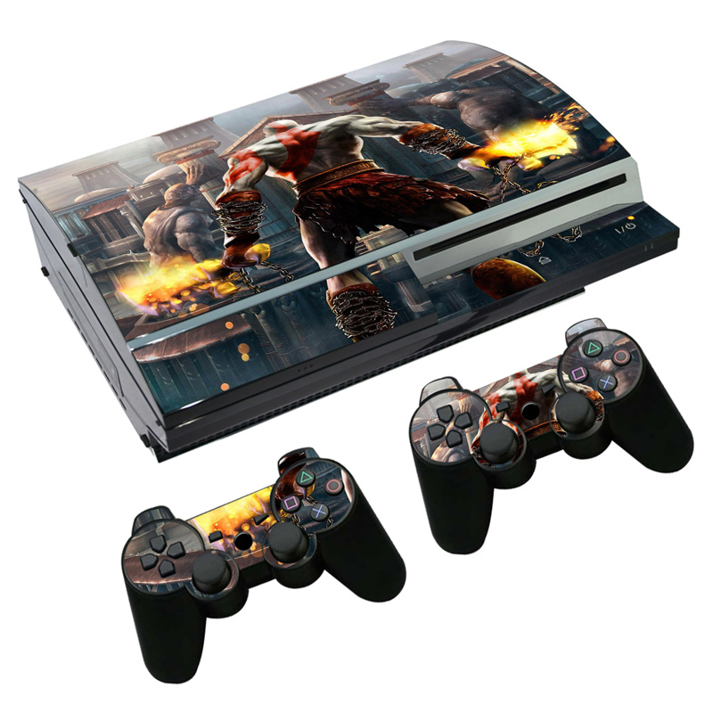 Game God of War Skin Sticker Decal for PS3 Fat PlayStation 3 Console and Controllers For PS3 Skins Sticker Vinyl image