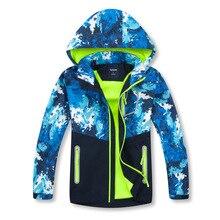 Girls Boy Coat Detachable Cap Autumn Winter Outerwear Windbreaker Waterproof Coat Children Jacket For Kids Hooded For Boys