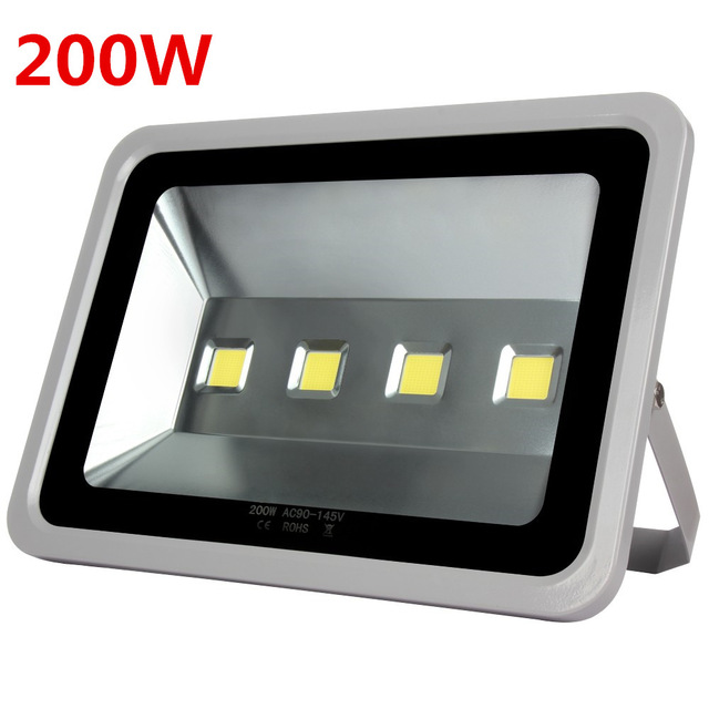 High quality Led Flood light 200W Led Floodlight New type Grey Shell AC85-265V AC110V/220VLed Spotlight Outdoor lighting 8PCS