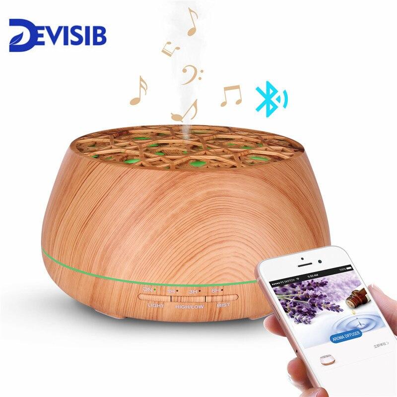 DEVISIB Bluetooth Динамик аромат эфирного масла диффузор Безводных Авто отключения 7 цветов Изменение светодиодный свет ультразвуковой увлажнител...