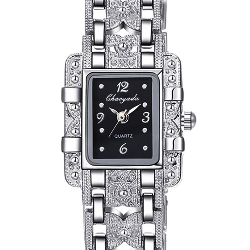 6fd4c74275f 2018 Top Marca de Luxo Estilo Elegante Pulseira de Prata do Relógio Das  Senhoras Das Mulheres Strass Vestido Relógios Horas de Aço Cheio relogio  feminino