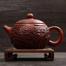 Специальное предложение ручной работы новая модель Премиум чайник с драконом чайник кунг-фу набор 220 мл Глина Керамика Zisha наборы фарфор