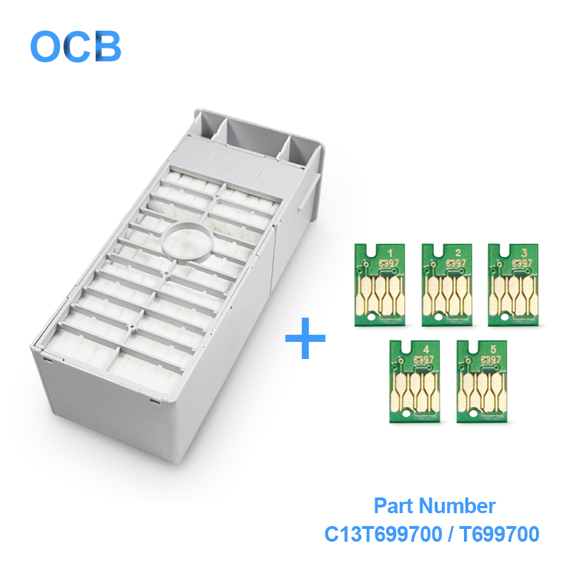 цена на T699700 T6997 C13T699700 Maintenance Ink Tank For Epson SureColor P6000 P6080 P7000 P7080 P8000 P8080 P9000 Maintenance Box