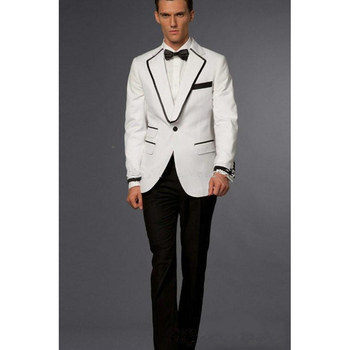 Custom made Groom Tuxedos bruiloft mens Wedding Suits set pink Coat Collocation Black pants men Suit(jacket+pants+bowtie)