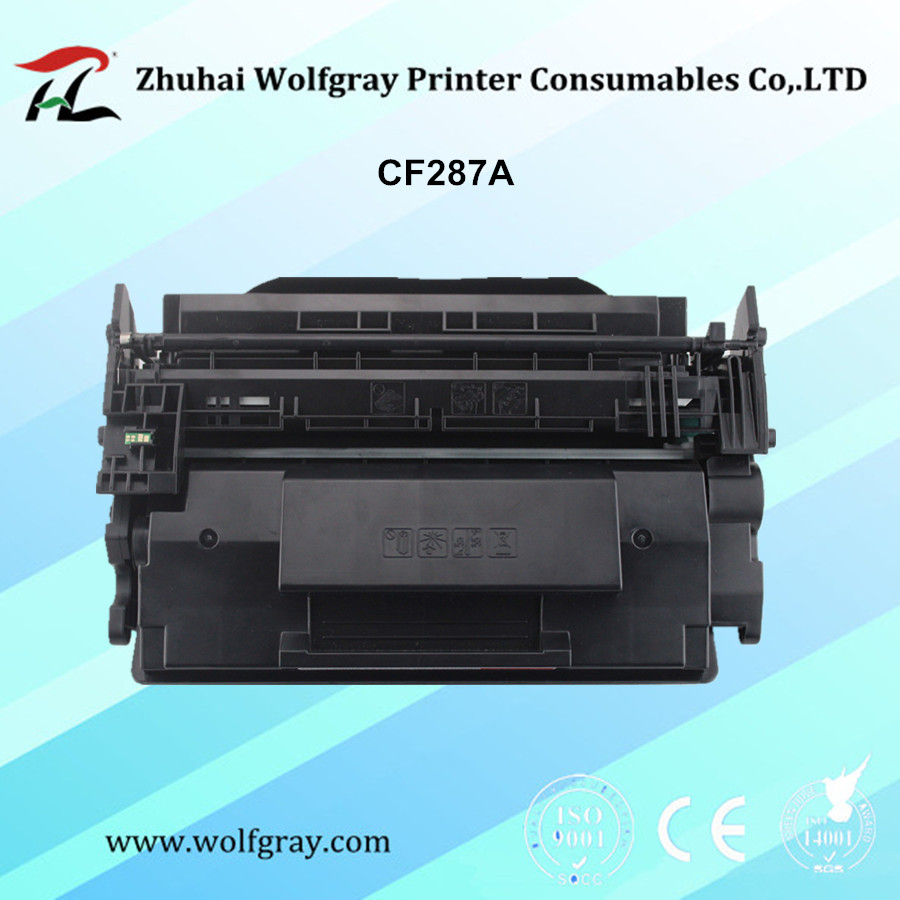 Compatible toner cartridge for HP CF287A 287A for printer LaserJet Enterprise MFP M527 compatible laser printer reset toner cartridge chip for toshiba 200 with 100% warranty