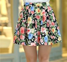 2017 women's pleated chiffon slim package hip skirt loose skirt short skirt female bust saia femininas skirts Plus size XXL