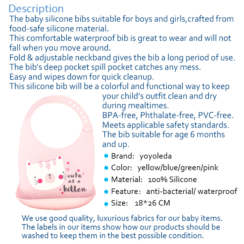 Baby Baby Peuter Waterdichte Siliconen Bib Zuigelingen Lekvrij Voeden Lunch Roll-up Schort Servies Accessoires Dropshipping