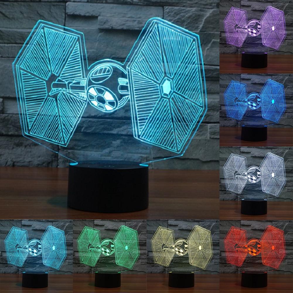 Star Wars Titanium 3D Visual Novelty USB LED Night Lights USB Power Lamp touch Sensor lamp Bedroom Desk Lamp for Holiday