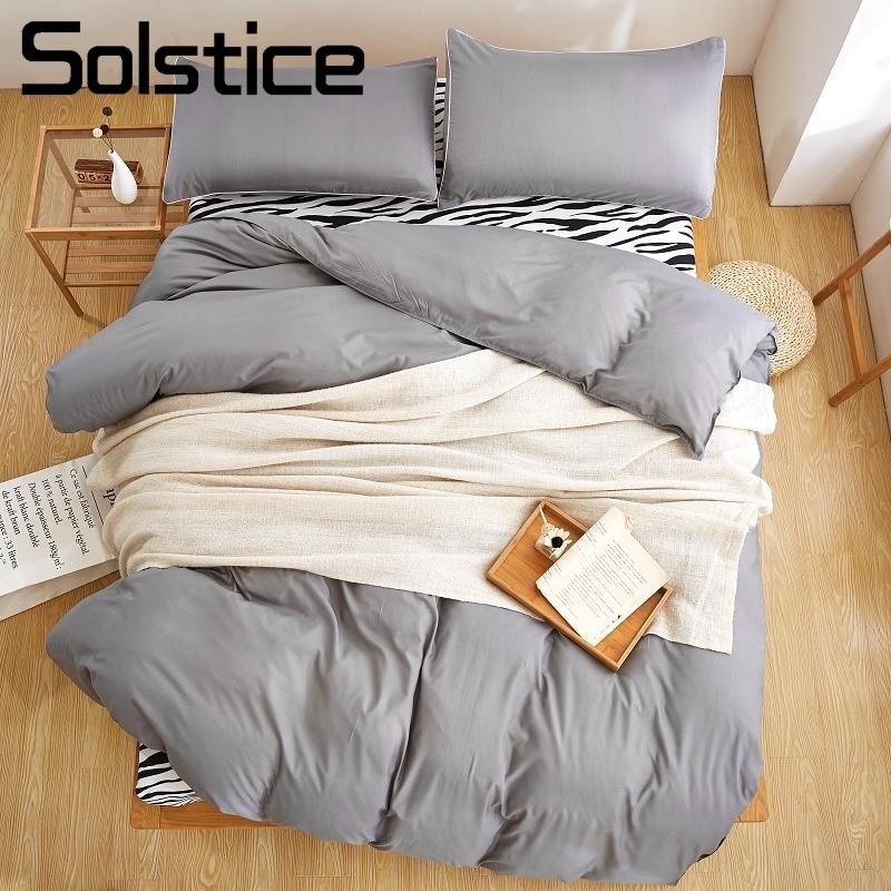 Solstice Textile De Maison Ensembles De Literie Simple Double Housse