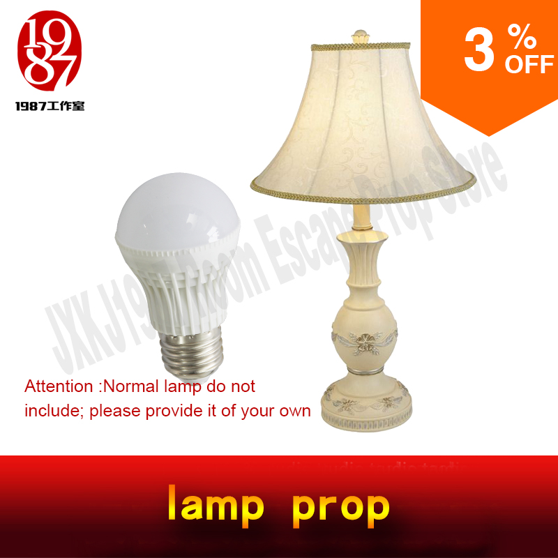 Takagism game Real Room escape prop lamp prop jxkj 1987 turn on the lamp to unlock turn off light to run away escape room adventurer prop takagism game real live room escape calendar prop adjust date to the specific to unlock run awayroom jxkj1987