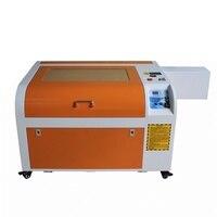 Последние LY 6040 CO2 лазерная гравировка машины 60 Вт 220 В/110 В лазерной с ЧПУ оси вращения