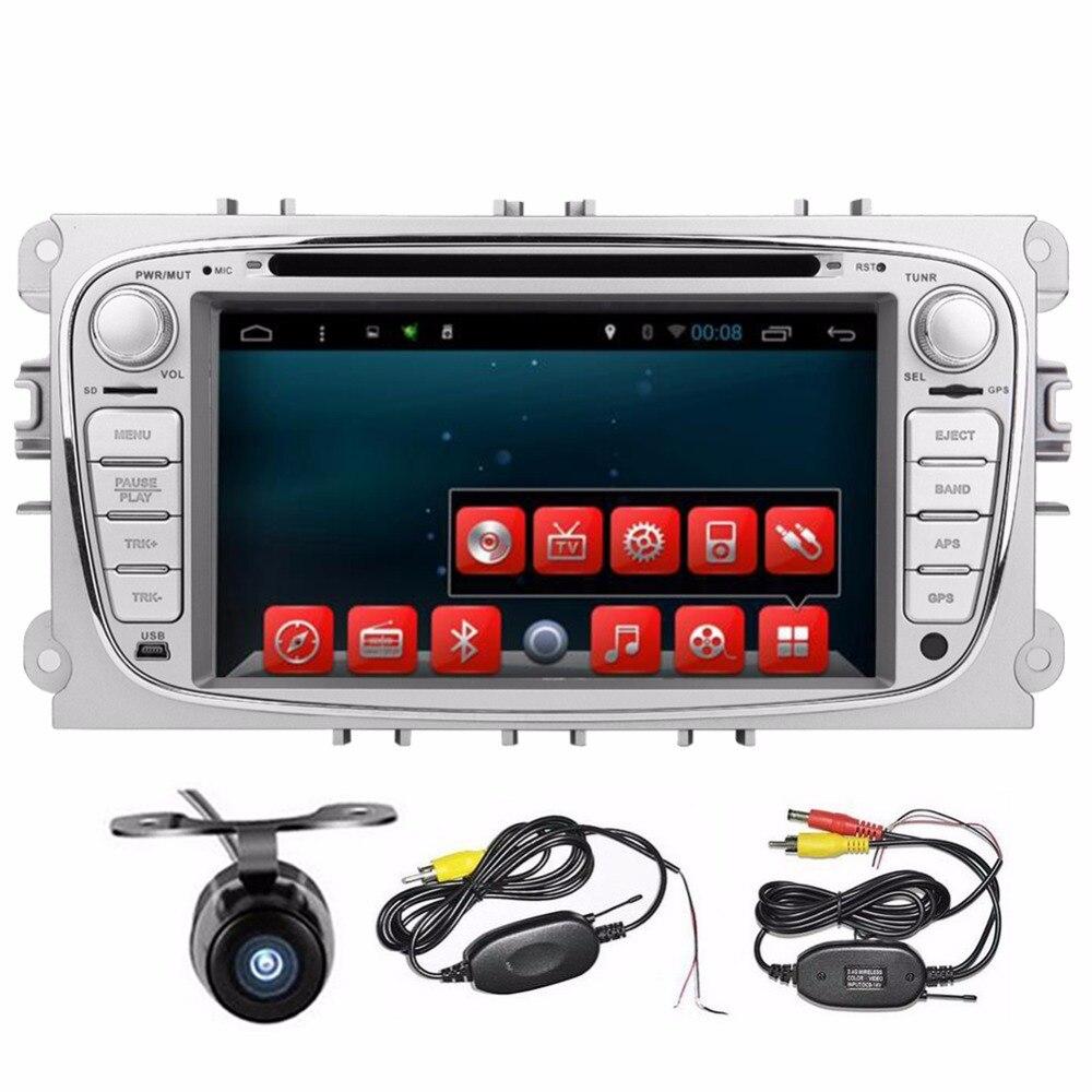 Бесплатная доставка 7 дюймов Android4.2 dvd плеер автомобиля для Ford Focus Mondeo DVD автомобиля 2din с Wi Fi GPS Navi Радио Бесплатная географические карты SWC + кам
