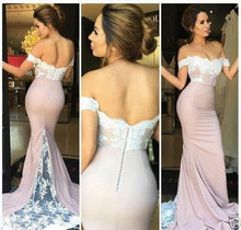Boat Neck 2019 Mermaid prom Dress Lace Applique Sleeveless Evening Dress Celebrity Pageant Party Prom Gown