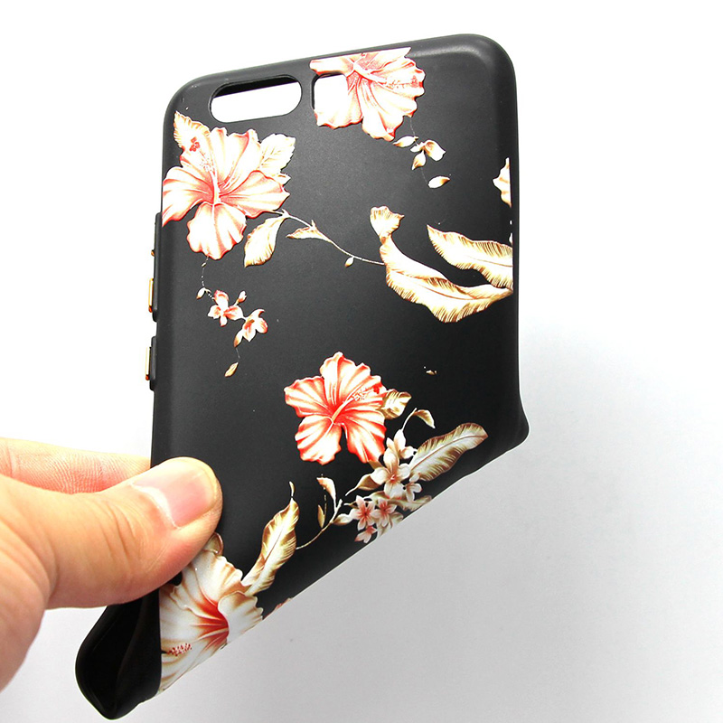 3D Relief flower silicone  case huawei p10 (39)