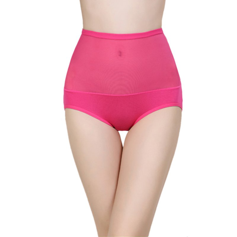 ROPALIA Lady Briefs High Waist Body Shaping Panties Seamless Bamboo Fibre Gauze Trigonometric Panties Slim Underwear