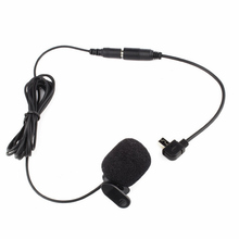 Mayitr New 3.5mm Black Mini Clip-on Microphone 30Hz--15KHz + Adapter Cable Suitable For Camera GoPro Hero 3/3+ /4 high quality special black hands free clip on 3 5mm mini studio speech microphone