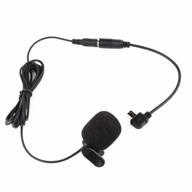 Mayitr New 3.5mm Black Mini Clip-on Microphone 30Hz--15KHz + Adapter Cable Suitable For Camera GoPro Hero 3/3+ /4