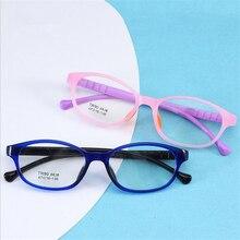 Ретро детские очки Рамка для мальчиков и девочек удобный и простой силиконовый Детские очки защитные Рецептурные очки Oculos de grau