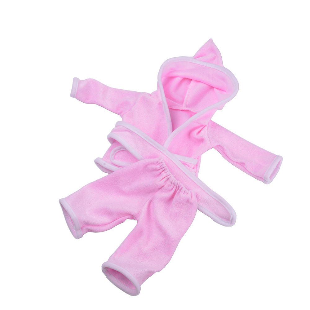 Pink night-robe Doll Baby Born Clothes Wear fit 43cm Zapf doll Children best Birthday Gift n574 2color choose leisure dress doll clothes wear fit 43cm baby born zapf children best birthday gift only sell clothes