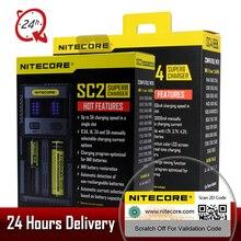 Original Nitecore SC2 SC4 LCD Display USB Rapid Intelligent Charger For Li-ion IMR LiFePO4 Ni-MH 18650 14450 16340 AA Battery