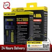 Original Nitecore SC2 SC4 LCD Display USB Rapid Intelligent Charger For Li Ion IMR LiFePO4 Ni