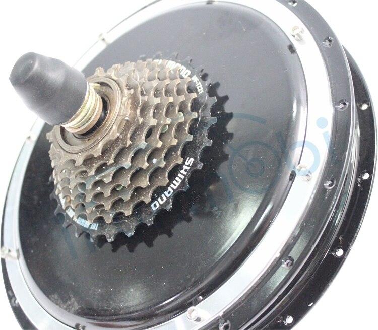 Puissant 24 V 36 V 48 V 350 W Ebike sans brosse Mini roue arrière de moteur de moyeu avec 7 vitesses vitesse moyeu décrochage 135mm vélo électrique