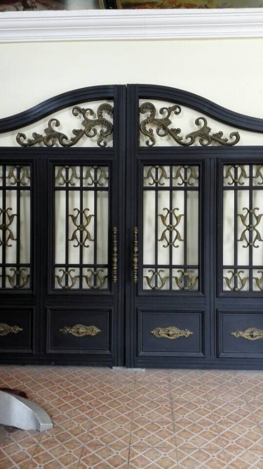 Индивидуальный дизайн сад кованые из кованого железа ворота кованые ворота oct3