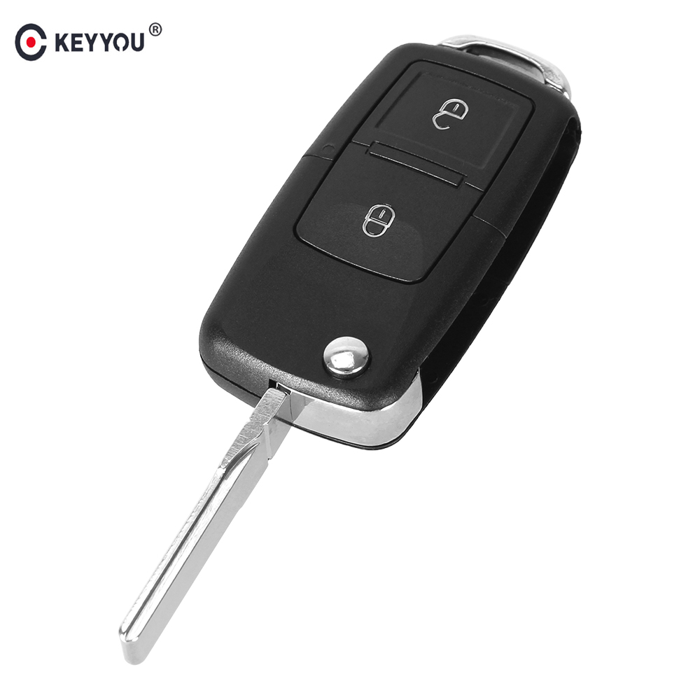KEYYOU 2 Buttons Flip Folding Car Remote Key Case Shell For VW Volkswagen Golf MK4 Bora Auto Keyless Enter Key CaseKEYYOU 2 Buttons Flip Folding Car Remote Key Case Shell For VW Volkswagen Golf MK4 Bora Auto Keyless Enter Key Case