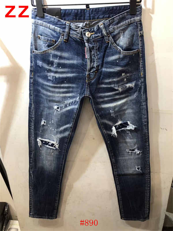 F.N.JACK   Jeans   Men 2019 Fashion Skinny   Jeans   Men Stylish Ripped Men's   Jeans   Pants COOL GUY   Jeans   Slim Straight Zipper Denim