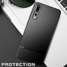 zuoyiki phone case Carbon Fiber Case for huawei mate 10 thin Slim Back Luxury Case for huawei p20 p20pro p20 lite Cover Silicone(China)
