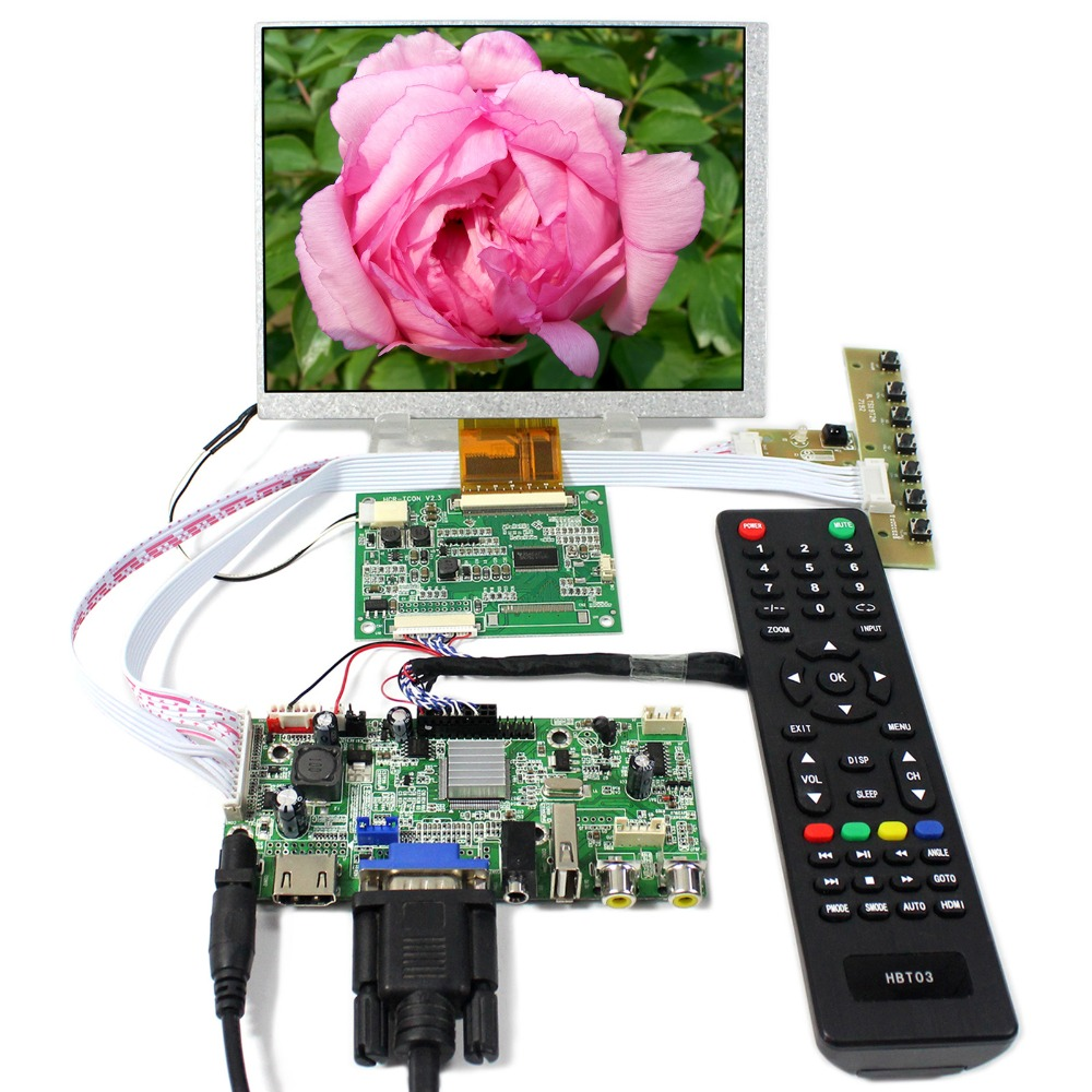 HDMI+VGA+AV+Audio+USB LCD Controller board With 7inch 800X600 CLAA070MA0ACW LCD Screen hdmi vga av audio usb fpv controller board for 9 7inch ltn097xl01 1024x768 lcd screen model lcd for raspberry pi