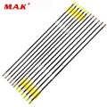 6/12/24 Uds columna vertebral 700 Flecha de fibra de vidrio 31,5