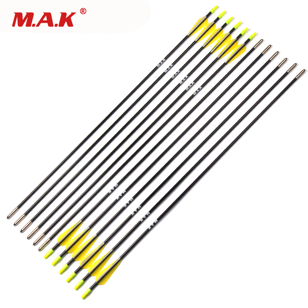 6/12/24pcs Spine 700 Fiberglass Arrow 31.5