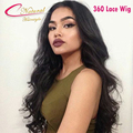 Top 8A 360 Lace Frontal Wig Peruvian Virgin Hair Thick 150% 180% Density Lace Front Full Lace Human Hair Wigs For Black Women