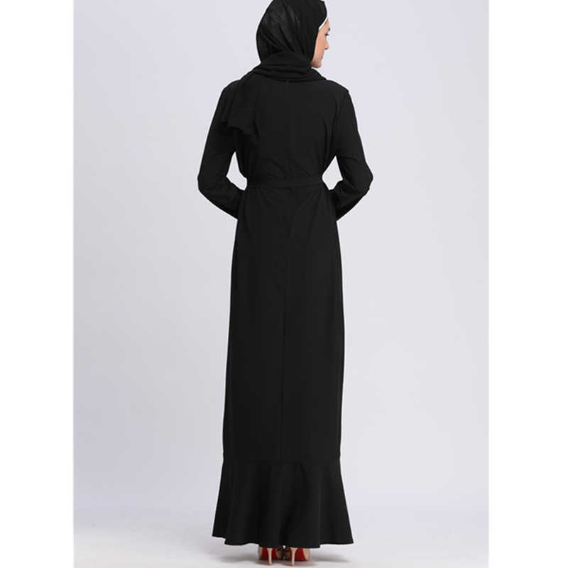 a21fc9ce9b ... Islamic Clothing Muslim Abaya Hijab Eevening Dresses Islam Qatar Uae  Women Burqa Moroccan Kaftan Robe Dubai
