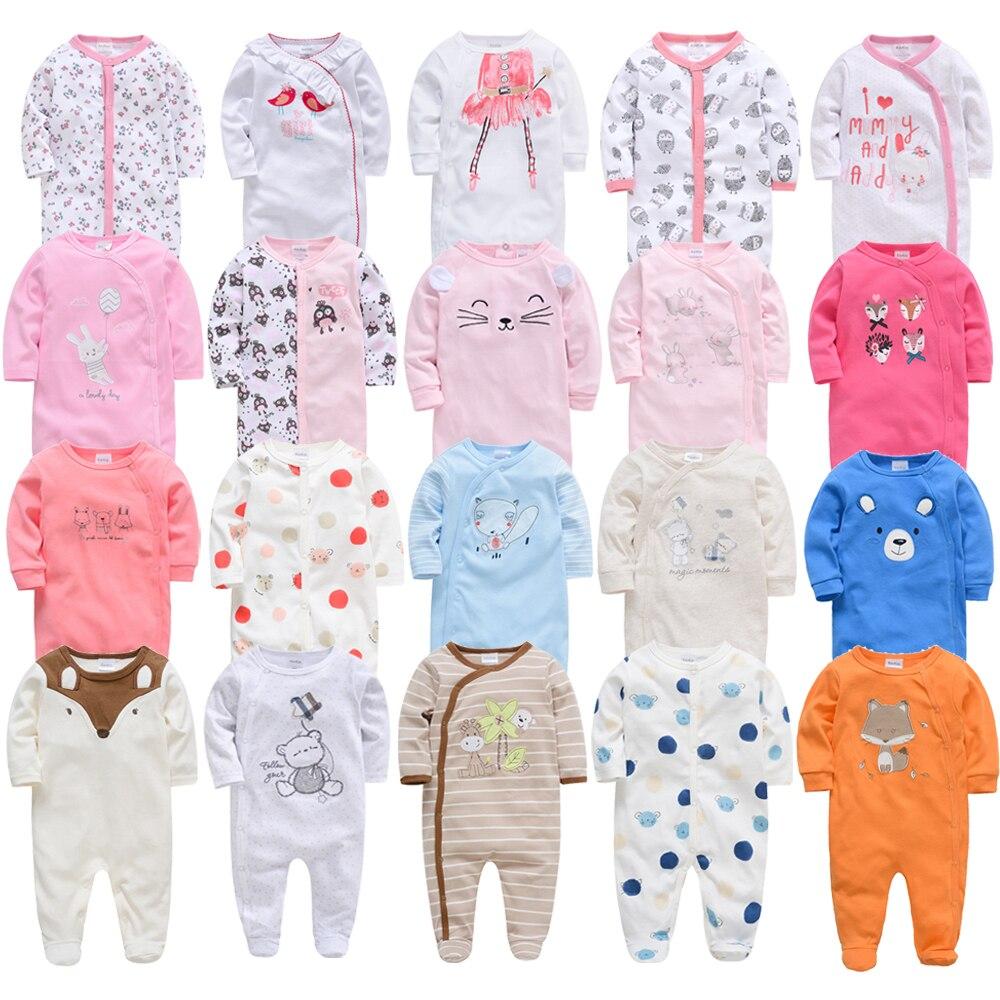 2019 3 4 pçs/lote Verão Baby Boy roupa de bebes Recém-nascidos Macacão de Algodão de Manga Longa Pijamas 0-12 Meses rompers Roupas de Bebê