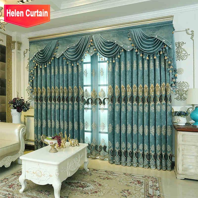 Helen Curtain Luxury Hot Silver Curtains For Living Room White European Design Velvet Curtain For Window Hotel Luxury Sheer Leather Bag