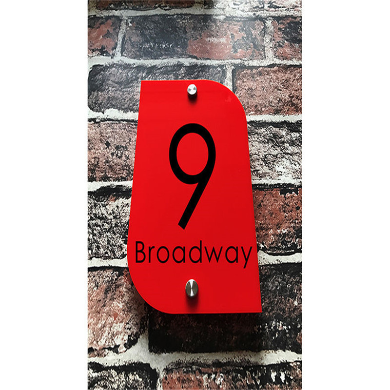 Customized Transparent Acrylic House Number Plaques Sign Plates House Signs with Vinyl Stickers Films customized transparent acrylic house number plaques sign plates door number street name plates house signs with frosted films