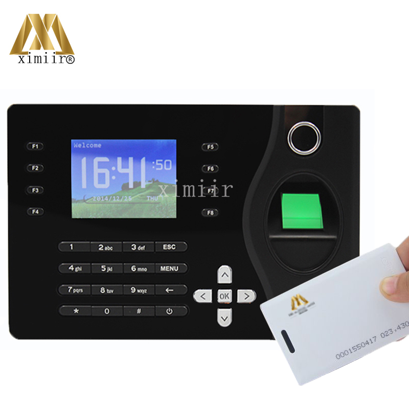 A-C081 Realand Fingerprint Recorder Employee Time Attendance Machine Black Color Design Attendance System With Free Software