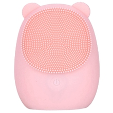 Facial Cleansing Brush Silicone Electric Skin Cleanser Deep Makeup Residue Bear Face For Washing