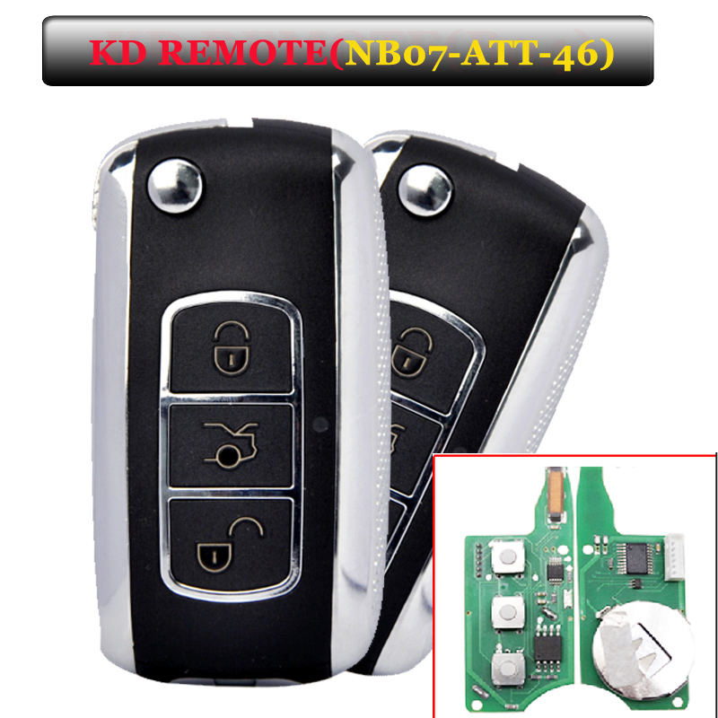 Free shipping (1 Piece)Keydiy KD900 NB07 3 button remote key with NB-ATT-46 for Touareg, ...