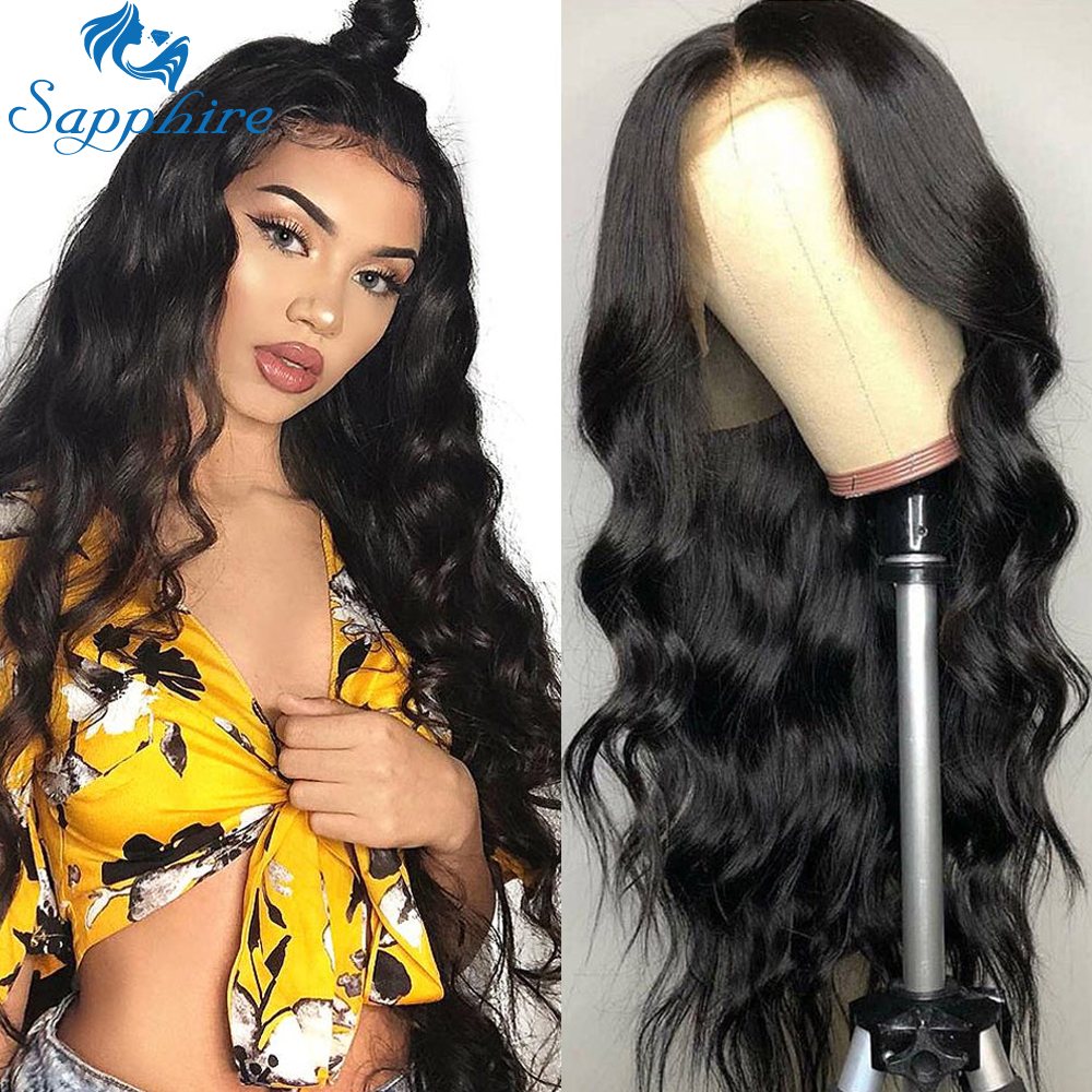 Sapphire Lace Front Human Hair Wigs Body Wave 360 Lace Frontal Wig 150 Density For Women