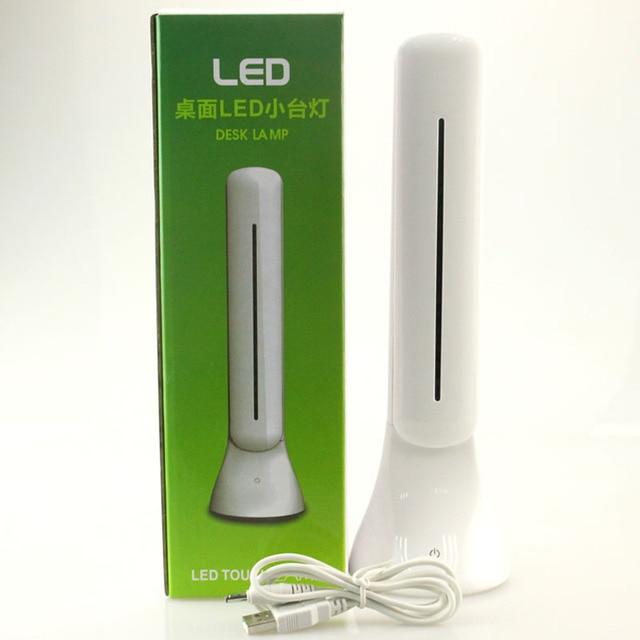 Встроенная аккумуляторная батарея 0.5A 18 Светодиодов Яркий 350lux светодиодные Настольные Лампы офис/студент чтения настольные лампы + USB кабель для зарядки