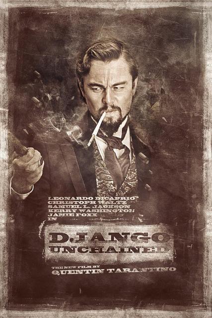 Custom Canvas Art Django Unchained Poster Leonardo Dicaprio Wall Stickers  Wallpaper Retro Movie Sticker Mural Home Decor #2913#