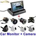 4.3 Polegada Auto Sistema de Estacionamento Retrovisor Do Carro HD Dobrável Monitor de 4.3 ''com 170 Graus Câmera de Visão Traseira Do Carro À Prova D' Água
