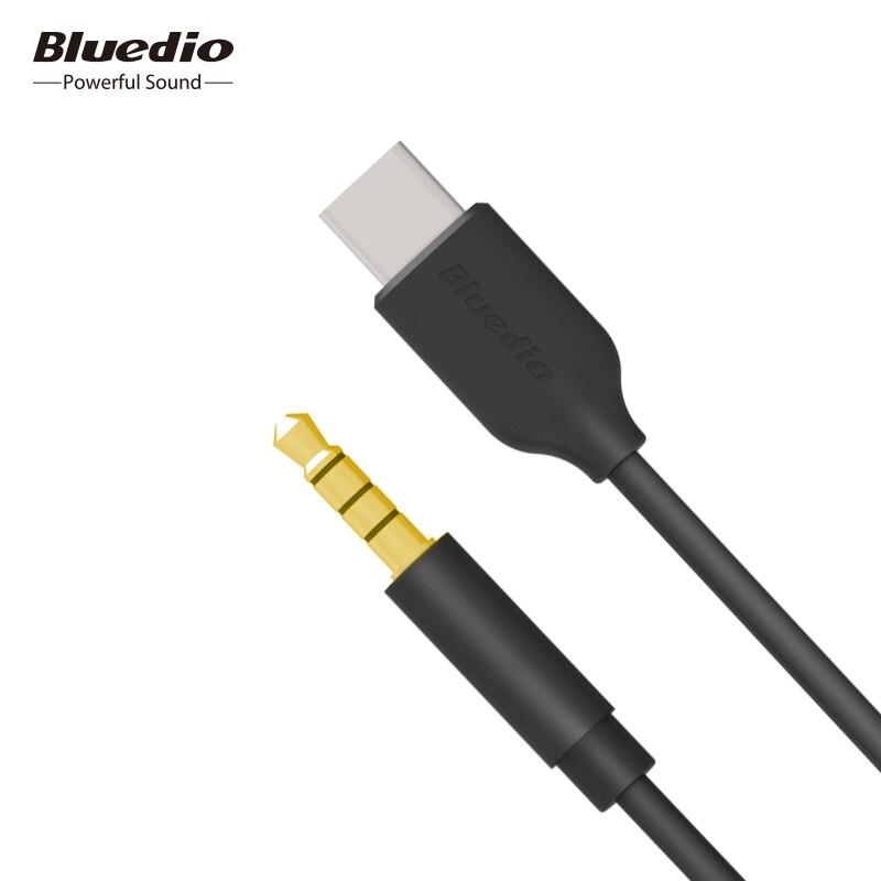 Bluedio 3,5mm tipo-C cable de audio USB-C de auriculares de 3,5mm AUX con micrófono para TM TMS T4S t5 T6 T6S V2 auriculares